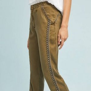Anthropologie Cedar Embroidered Joggers xs